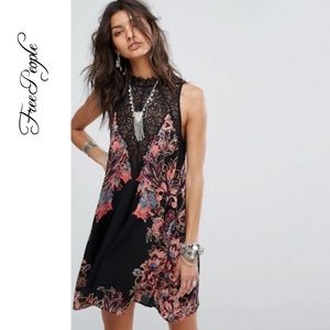 NWT Free People Marsha Printed Slip Dress